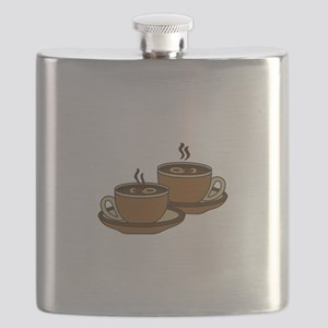 TWO COFFEE CUPS Flask