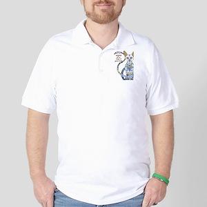 egyptian cat Golf Shirt