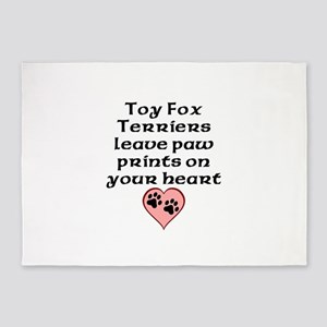 Toy Fox Terriers Leave Paw Prints On Your Heart 5'