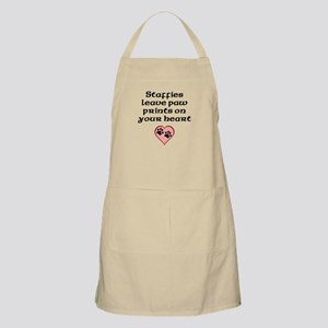 Staffies Leave Paw Prints On Your Heart Apron
