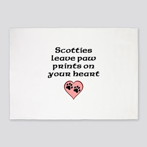 Scotties Leave Paw Prints On Your Heart 5'x7'Area