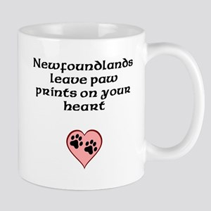 Newfoundlands Leave Paw Prints On Your Heart Mugs
