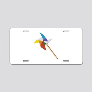 Colorful Pinwheel Aluminum License Plate