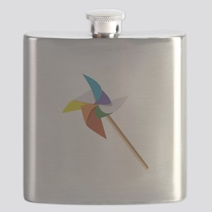 Colorful Pinwheel Flask