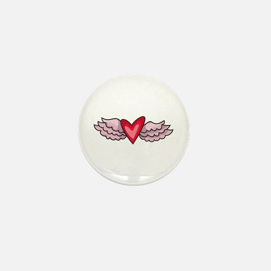 HEART WITH WINGS Mini Button