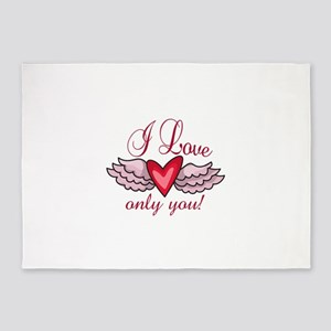 I LOVE ONLY YOU 5'x7'Area Rug