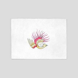 ASIAN BIRD 5'x7'Area Rug