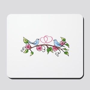 BIRDS AND HEARTS Mousepad