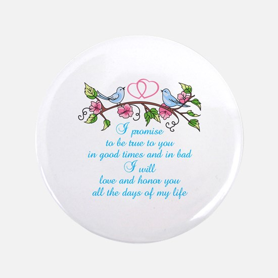 "WEDDING VOWS 3.5"" Button"