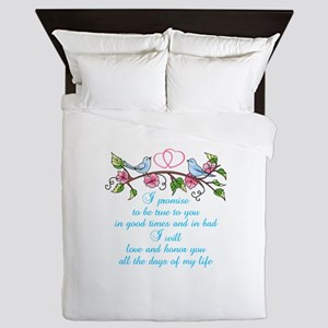 WEDDING VOWS Queen Duvet