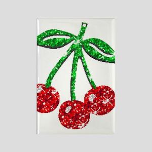 Sparkling Cherries Rectangle Magnet