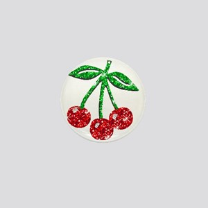 Sparkling Cherries Mini Button