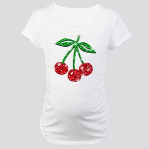 Sparkling Cherries Maternity T-Shirt