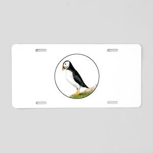 Puffin Bird Painting Artwor Aluminum License Plate