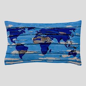World Map Art Pillow Case