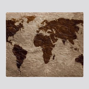 World Map Art Throw Blanket
