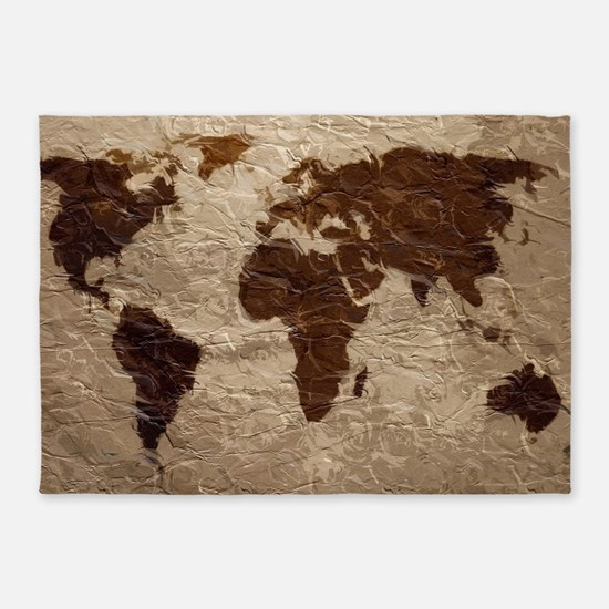 World map bedding cafepress world map art 5x7area rug gumiabroncs Gallery
