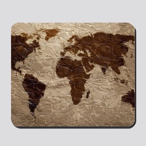 World Map Art Mousepad