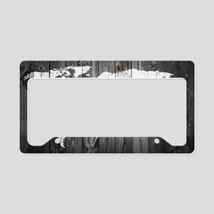 World Map Art License Plate Holder