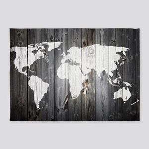 World map area rugs cafepress world map art 5x7area rug gumiabroncs Images