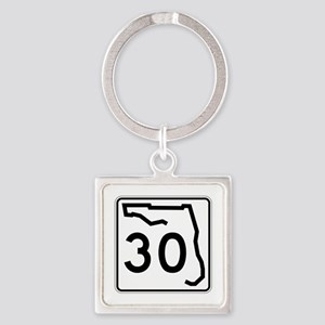 Route 30, Florida Square Keychain