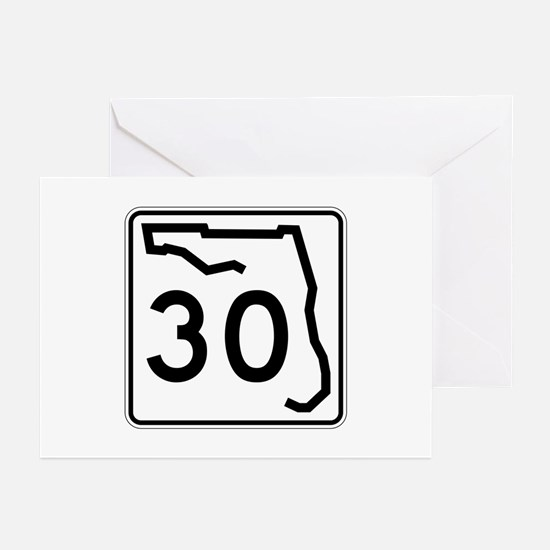 Route 30, Florida Greeting Cards (Pk of 10)