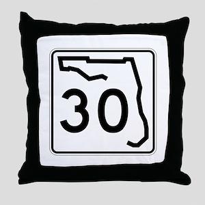 Route 30, Florida Throw Pillow