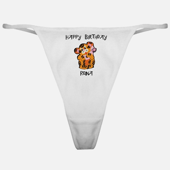 Happy Birthday Reina (tiger) Classic Thong