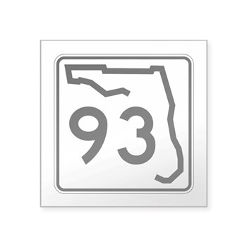 Route 93, Florida Square Sticker 3
