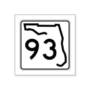 Route 93, Florida Square Sticker 3