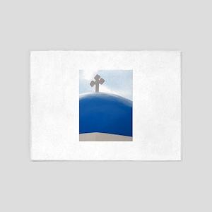 Santorini Cross in the Afternoon Su 5'x7'Area Rug