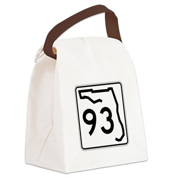 Route 93, Florida Canvas Lunch Bag