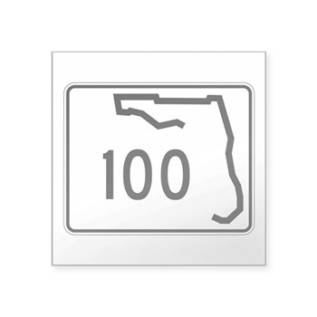 Route 100, Florida Square Sticker 3