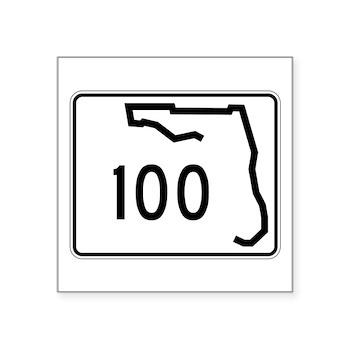 Route 100, Florida Square Sticker 3