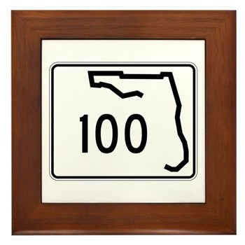 Route 100, Florida Framed Tile