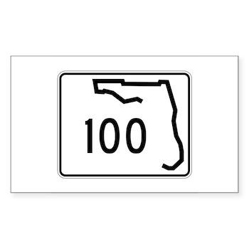 Route 100, Florida Sticker (Rectangle)