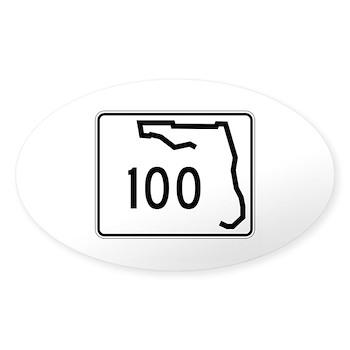 Route 100, Florida Sticker (Oval)