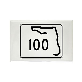 Route 100, Florida Rectangle Magnet (10 pack)