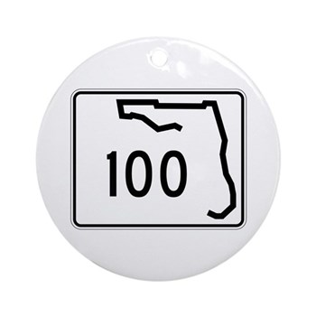 Route 100, Florida Ornament (Round)