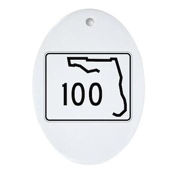 Route 100, Florida Ornament (Oval)