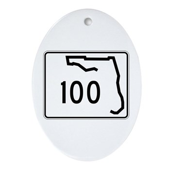 Route 100, Florida Ornament (Oval)