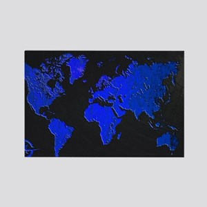 World Map Rectangle Magnet