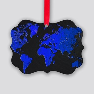 World Map Picture Ornament
