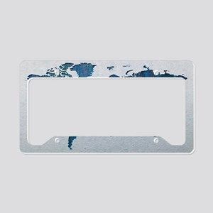 World Map License Plate Holder