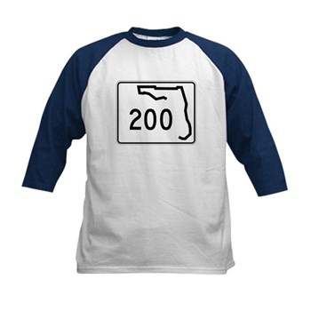 Route 200, Florida Kids Baseball Jersey