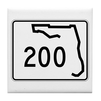 Route 200, Florida Tile Coaster