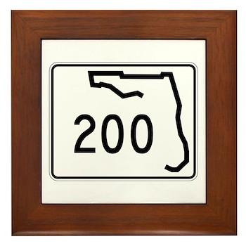 Route 200, Florida Framed Tile