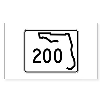 Route 200, Florida Sticker (Rectangle)