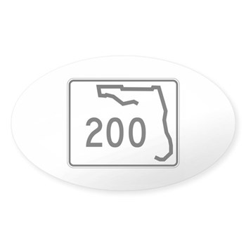 Route 200, Florida Sticker (Oval)