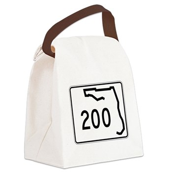 Route 200, Florida Canvas Lunch Bag
